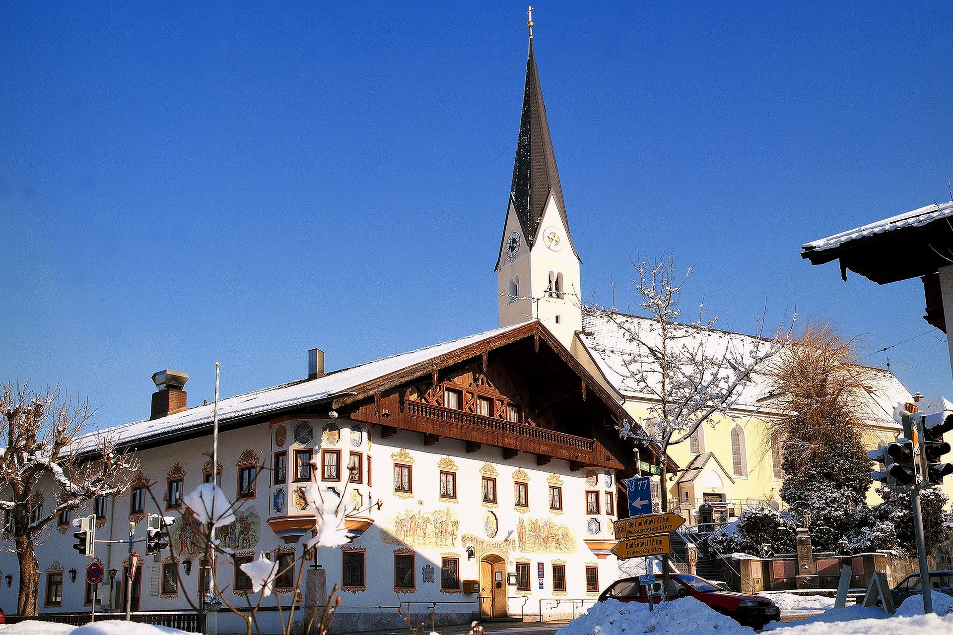 Alter Wirt Bernau im Winter