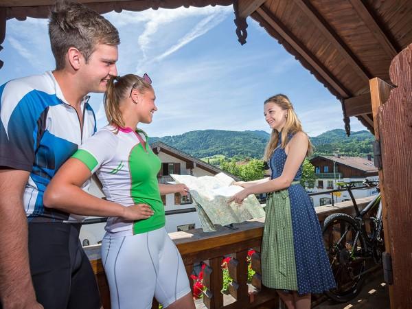 Zimmer mit Bergblick Gasthof Alter Wirt Bernau am Chiemsee